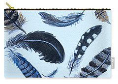 Dancing Feathers Carry-all Pouch by Elizabeth Robinette Tyndall