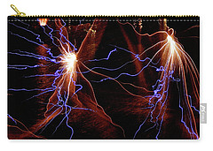 Carry-all Pouch featuring the photograph Dancing Fireworks #0707 by Barbara Tristan