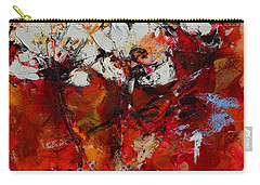 Dancing Flowers Carry-all Pouch by Elise Palmigiani
