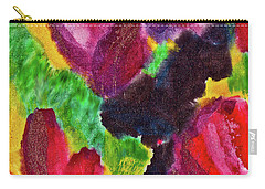 Carry-all Pouch featuring the painting Dancing Flowers by Joan Reese