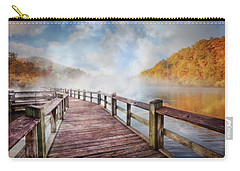 Carry-all Pouch featuring the photograph Dancing Fog At The Lake by Debra and Dave Vanderlaan