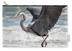 Dancing Heron #2/3 Carry-all Pouch by Patti Deters