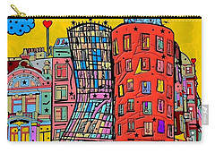 Dancing House Prague By Nico Bielow Carry-all Pouch by Nico Bielow