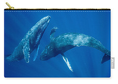 Dancing Humpback Whales Carry-all Pouch by Flip Nicklin