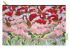 Carry-all Pouch featuring the painting Dancing In The Garden by David Dehner