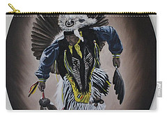 Carry-all Pouch featuring the painting Dancing In The Spirit by Michael  TMAD Finney