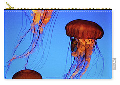 Carry-all Pouch featuring the photograph Dancing Jellyfish by Anthony Jones