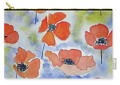 Dancing Poppies Carry-all Pouch