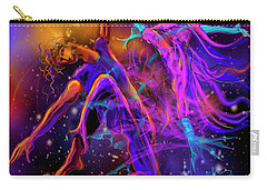 Carry-all Pouch featuring the painting Dancing With The Universe by DC Langer