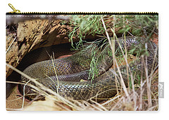 Carry-all Pouch featuring the photograph Dandarabilla The Inland Taipan by Miroslava Jurcik