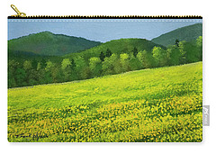 Carry-all Pouch featuring the painting Dandelion Bloom by Frank Wilson