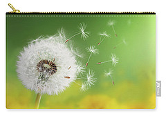 Carry-all Pouch featuring the photograph Dandelion Clock In Morning by Bess Hamiti