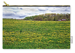 Dandelion Field With Barn Carry-all Pouch