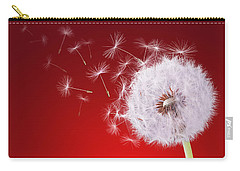 Dandelion Flying On Reed Background Carry-all Pouch