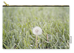 Carry-all Pouch featuring the photograph Dandelion In The Grass by Cindy Garber Iverson