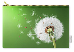 Carry-all Pouch featuring the photograph Dandelion Seeds by Bess Hamiti
