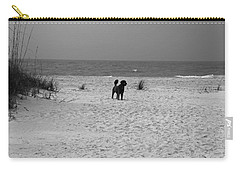 Carry-all Pouch featuring the photograph Dandy On The Beach by Michiale Schneider