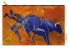 Carry-all Pouch featuring the painting Danny At The Rodeo by Janice Rae Pariza