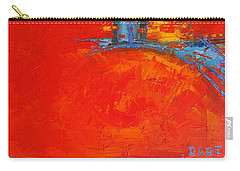 Dare -  Modern Abstract Oil Painting Palette Knife Carry-all Pouch