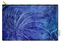 Dark Blue Abstract Carry-all Pouch