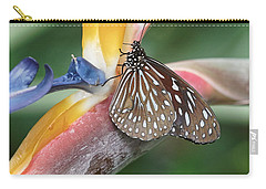 Carry-all Pouch featuring the photograph Dark Blue Tiger Butterfly - 1 by Paul Gulliver