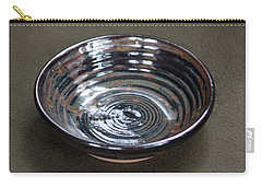 Dark Brown And Red Ceramic Bowl Carry-all Pouch by Suzanne Gaff