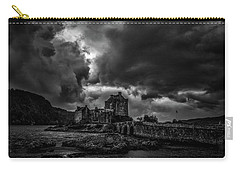 Carry-all Pouch featuring the photograph Dark Clouds Bw #h2 by Leif Sohlman