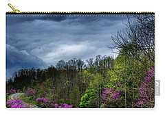 Carry-all Pouch featuring the photograph Dark Clouds Over Redbud Highway by Thomas R Fletcher