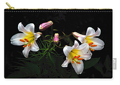 Carry-all Pouch featuring the photograph Dark Day Bright Lilies by Byron Varvarigos