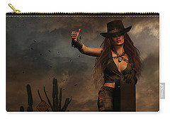 Dark Desert Highway Carry-all Pouch by Shanina Conway