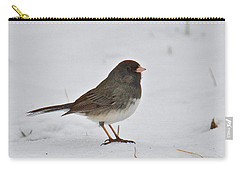 Carry-all Pouch featuring the photograph Dark-eyed Junco 1217 by Michael Peychich