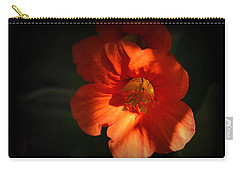 Carry-all Pouch featuring the photograph Dark Flower by AJ Schibig