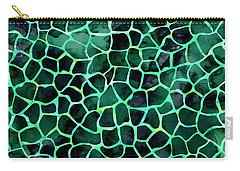 Dark Green Giraffe Print Carry-all Pouch