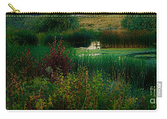 Dark Green Oasis By Lisa Kaiser Carry-all Pouch