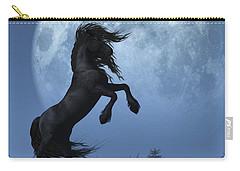 Dark Horse And Full Moon Carry-all Pouch by Daniel Eskridge
