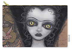 Dark Lily Carry-all Pouch by Abril Andrade Griffith