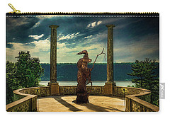 Carry-all Pouch featuring the photograph Dark Magic At Sunset By The Hudson by Chris Lord