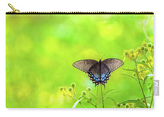 Carry-all Pouch featuring the photograph Dark Morph Female Tiger Swallowtail Butterfly by Lori Coleman