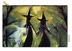 Dark Ochre Moonlit Halloween By Lisa Kaiser Carry-all Pouch