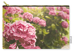 Dark Pink Hydrangea Carry-all Pouch