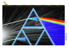 Carry-all Pouch featuring the digital art Dark Side Of The Moon by Dan Sproul