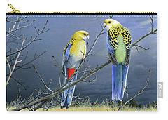 Darkness Before The Deluge - Pale-headed Rosellas Carry-all Pouch