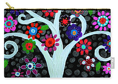 Carry-all Pouch featuring the painting Darkness Of Light by Pristine Cartera Turkus