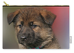 Carry-all Pouch featuring the photograph Darling Puppy by Sandy Keeton