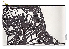 Carry-all Pouch featuring the drawing Darren Mcfadden 1 by Jeremiah Colley