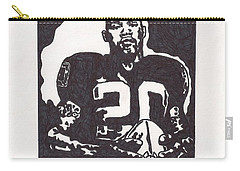 Carry-all Pouch featuring the drawing Darren Mcfadden 2 by Jeremiah Colley