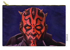 Darth Maul Dark Lord Of The Sith Carry-all Pouch by Sergey Lukashin
