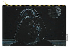 Carry-all Pouch featuring the drawing Darth Vader Study by Meagan  Visser