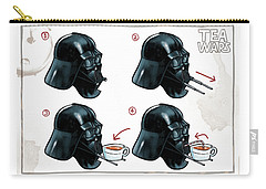 Carry-all Pouch featuring the digital art Darth Vader Tea Drinking Star Wars by Martin Davey