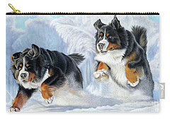 Carry-all Pouch featuring the painting Dashing Through The Snow by Donna Mulley